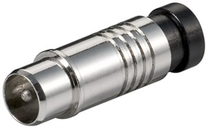 Coaxial compression socket