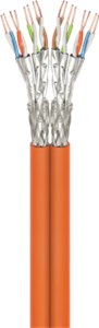 CAT 7A Duplex network cable, S/FTP (PiMF), orange