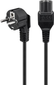 High-power connection cord; 2 m, black