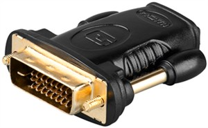 HDMI™/DVI-D adapter, gold-plated
