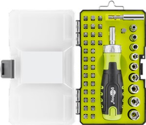 42-piece rachet screwdriver box