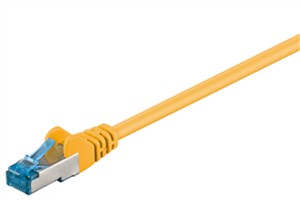 CAT 6A patch cable, S/FTP (PiMF), yellow