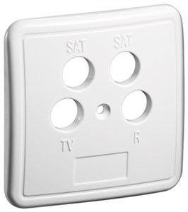 4 holes cover plate for antenna wall sockets