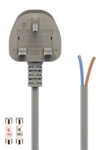 UK - cold-device cord, 1.5 m, grey