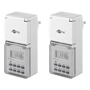 2 pcs.: IP44 digital timer