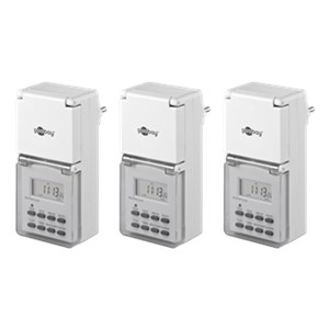 3 pcs.: IP44 digital timer