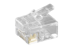 RJ12 modular plug for round cable; 6 pol.