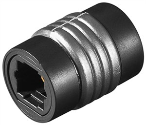 Toslink digital/audio connector; female to female
