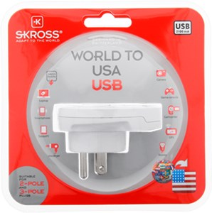 Country Adapter World to USA USB