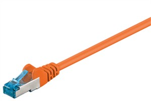 CAT 6A patch cable, S/FTP (PiMF), orange