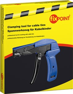 Clamping tool for cable ties