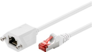 CAT 6 extension cable, F/UTP, white