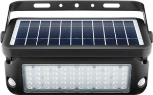 LED solar wall light with a motion sensor, 10 W