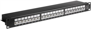 CAT 6a 19 inch (48.3 cm) Patch Panel, 24 Port