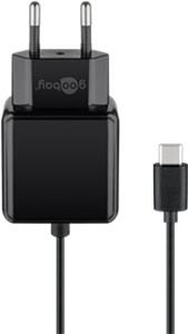 Charger with 1,5m USB-C™ connection cable 3,0A (15W) black