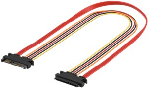 PC SATA data and power extension cable