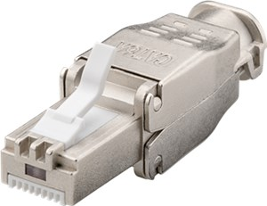 Tool-free RJ45 network connector CAT 6A STP shielded