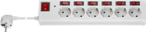 AC power strip with surge protection and switch 1.5 m