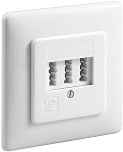 3x TAE-NFF wall Plate; Flush mount