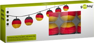 LED German flag string lights, with power plug