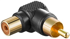 RCA adapter 90°; black