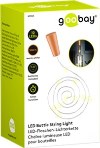 Bottle string light with 10 LEDs, incl. timer