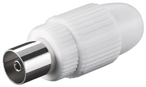 Coaxial socket with screw fixing
