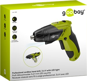Professional cordless hand drill, 3.6 V with LED light