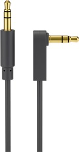 AUX audio connector cable; 3.5 mm stereo; 3-pin; slim; CU; angled