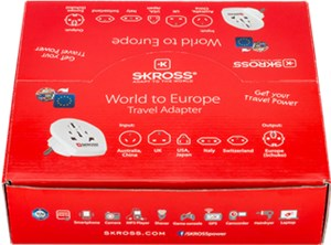 Country Adapter World to Europe sales package